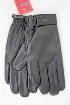 Мужские кожаные перчатки с мехом на резинке w016