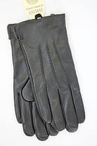 Мужские кожаные перчатки три строчки 505