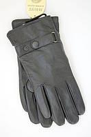 Мужские кожаные перчатки на кнопке 506