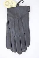 Кожаные мужские перчатки три строчки Shust Gloves 508