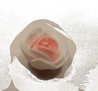 Роза белая с розовым 2030-13-11 (мелкая)