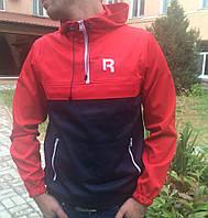 Анорак Reebok красно-синий, мужская одежда
