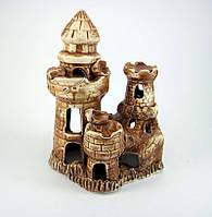 Декорация для аквариума керамическая Замок с башней 15х19 см