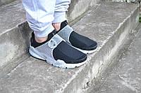 кроссовки Nike sock dart  мужские ,с белой подошвой на застежке