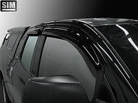 Дефлекторы боковых стекол Toyota Tundra II Double Cab 2007 (Тойота тундра 2 дабл каб) Cobra Tuning