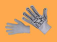 Трикотажные перчатки с ПВХ точкой «Звезда»