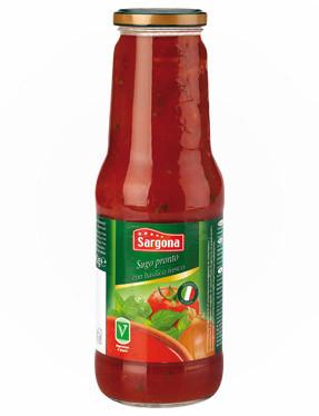 Соус томатный с базиликом SARGONA Passata di pomodoro con basilico 700 гр.