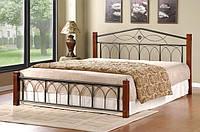 """Кровать двуспальная """"Миранда"""" из натурального дерева и металла"""