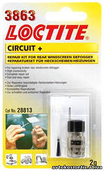 Loctite 3863 Circuit - Набор для ремонта нитей обогрева заднего стекла.