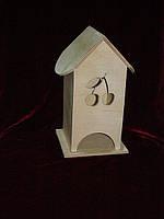 Чайный домик для декупажа вишенка (10 х 10 х 23 см)