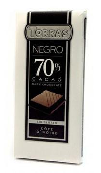 Шоколад черный Torras negro 70% какао 200 г Испания