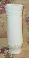 Ваза для цветов большая (белая), фото 1