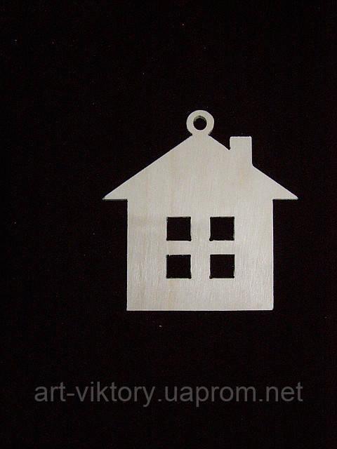 Елочная игрушка домик