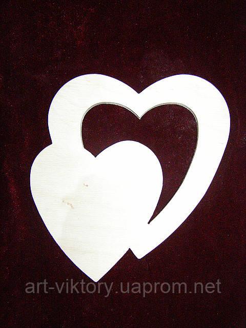 Трафарет Сердце в сердце