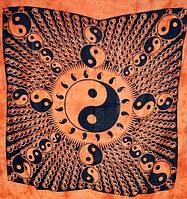 Покрывало Инь Ян оранжевое