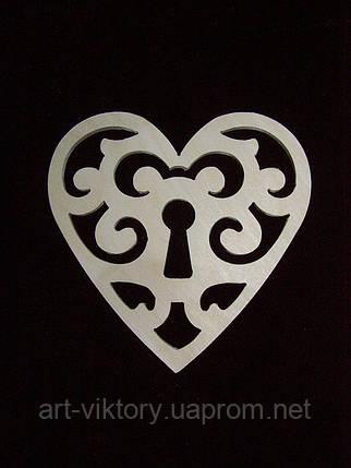 Сердце узорное с уключиной, фото 2