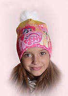 """Зимняя шапочка для девочки """"My little Pony"""", р-р 50-54"""