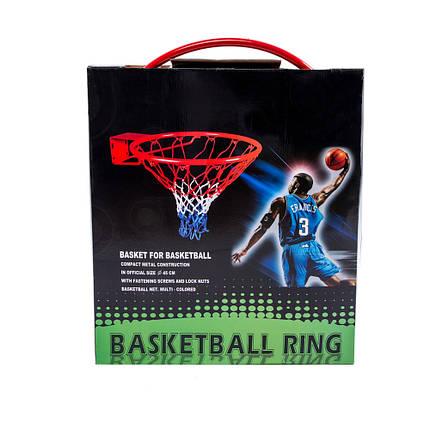 Кольцо  баскетбольное с сеткой YH-F032, фото 2