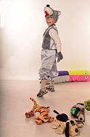 Детский костюм Волк для детей 3,4,5,6,7 лет. Новогодний карнавальный костюм для мальчиков