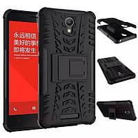 Чехол Armor для Xiaomi Redmi Note 2 бампер противоударный черный