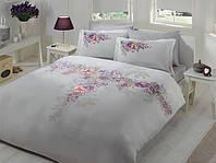 Комплект постельного белья ТАС Lona Grey сатин де люкс 220-200 см, фото 1
