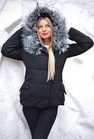 Женская куртка Мона с мехом зима