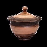 Горшок глиняный (макитра) с крышкой Этно EA05 Покутская керамика 6 литров