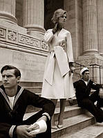 Женское белое пальто Валери с поясом