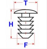 Автокрепеж, Ялина 90572N (T=16; H=19; F=9.2), фото 2
