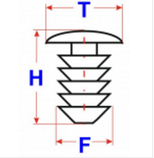 Автокрепеж, Ялина 91458N (T=18.5; H=24; F=9), фото 2