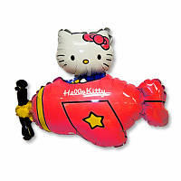 "Фольгированная фигура ""Hello Kitty на самолетике"""