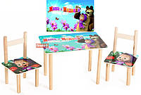 Детский набор стол и два стульчика Маша и Медведь 064 Финекс Плюс