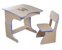 Детская Эко парта растущая + стульчик, синяя 106 Финекс Плюс