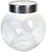 Емкость для хранения сыпучих стеклянная с крышкой Empire ЕМ 1853,  V=1600 мл