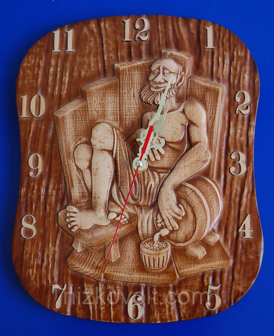 "Сувенірний годинник ""Банщик"" (230х285х18)"