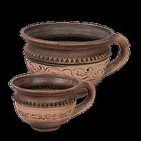 Чашка - кружка глиняная Шляхтянская AF07 Покутская керамика  0,33 литра