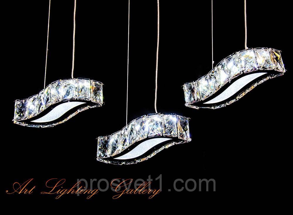Люстра с пультом и светодиодной подсветкой  Led хай тек 2576-3