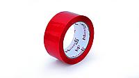 Скотч упаковочный цветной (красный), 48 мм*100 м
