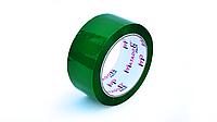 Скотч упаковочный цветной (зеленый), 48 мм*100 м
