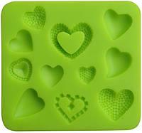 Молд кондитерский для мастики Сердечки Empire ЕМ 8216