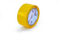 Скотч упаковочный цветной (желтый), 48 мм*100 м