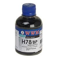 Чернила wwm для hp №178 200г black Пигментные (h78/bp)