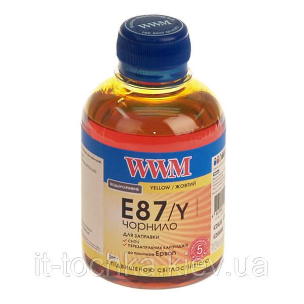 Чернила wwm для epson stylus photo r1900/r2000 200г yellow Водорастворимые (e87/y) с повышенной светостойкостью