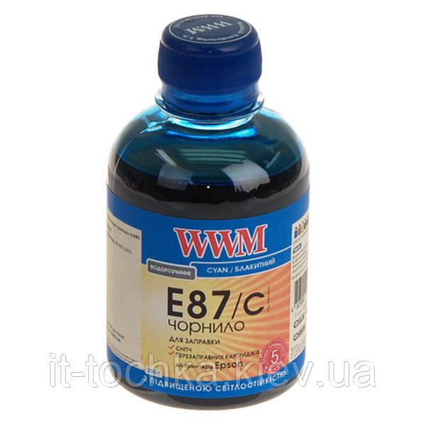 Чернила wwm для epson stylus photo r1900/r2000 200г cyan Водорастворимые (e87/c) с повышенной светостойкостью