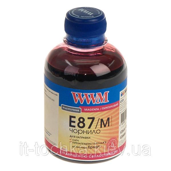 Чернила wwm для epson stylus photo r1900/r2000 200г magenta Водорастворимые (e87/m) с повышенной светостойкостью