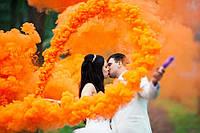 Цветные дымовые шашки, помаранчевий (середньої насиченості(дим12), цветной дым, 60 сек.
