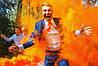Ручний помаранчевий кольоровий дим найнасиченіший (дим13), 60 сек., Димова шашка, кольоровий дим
