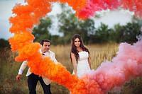 Помаранчевий ручний кольоровий дим(звичайної насиченості(дим11), дымовая шашка, цветной дым, 60 сек., фото 1