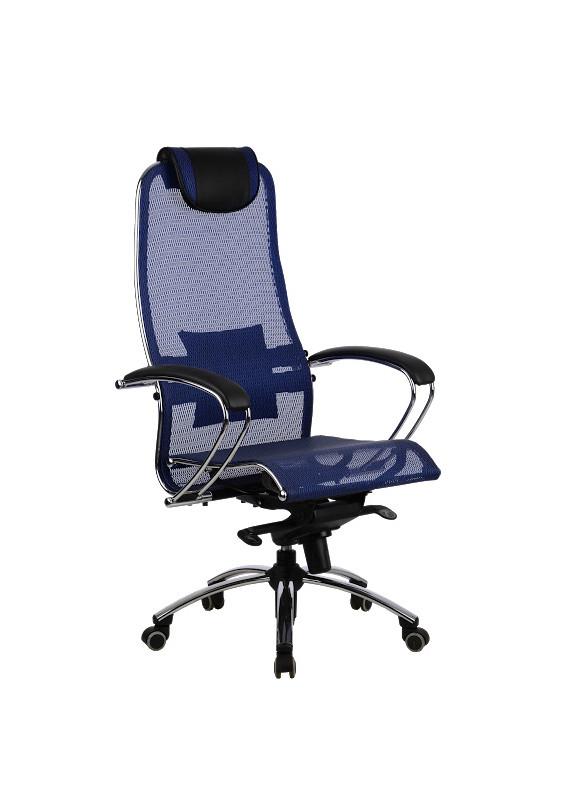 Ергономічне крісло для керівника Samurai S1 Blue