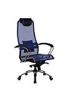 Эргономичное кресло для руководителя Samurai S1 Blue